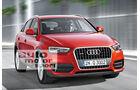 Audi Q3 Facelift, Frontansicht