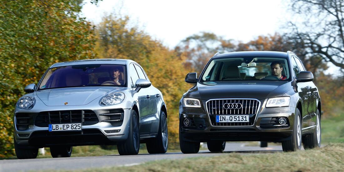 Audi Q5, Porsche Macan, Frontansicht