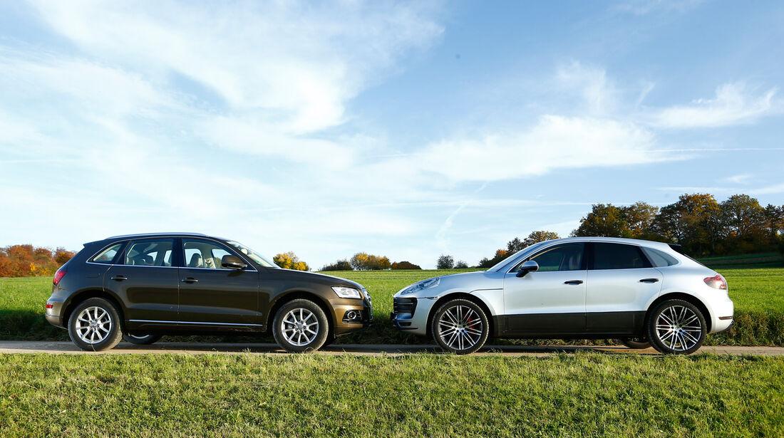Audi Q5, Porsche Macan, Seitenansicht