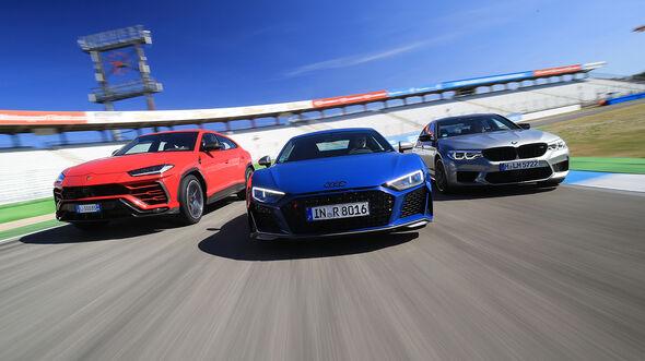 Audi R8, BMW M5, Lamborghini Urus, Vergleichstest, spa0519