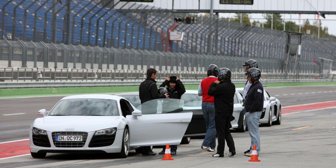 Audi R8, Boxenstopp