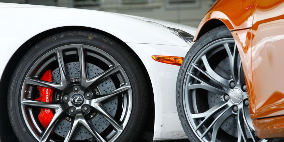 Audi R8 GT, Lexus LFA, Felgen