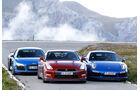 Audi R8 LMX, Nissan GT-R, Porsche 911 Turbo S, Frontansicht