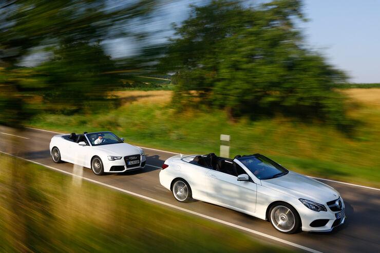 Audi RS 5, Mercedes E 500 Cabriolet, Seitenansicht