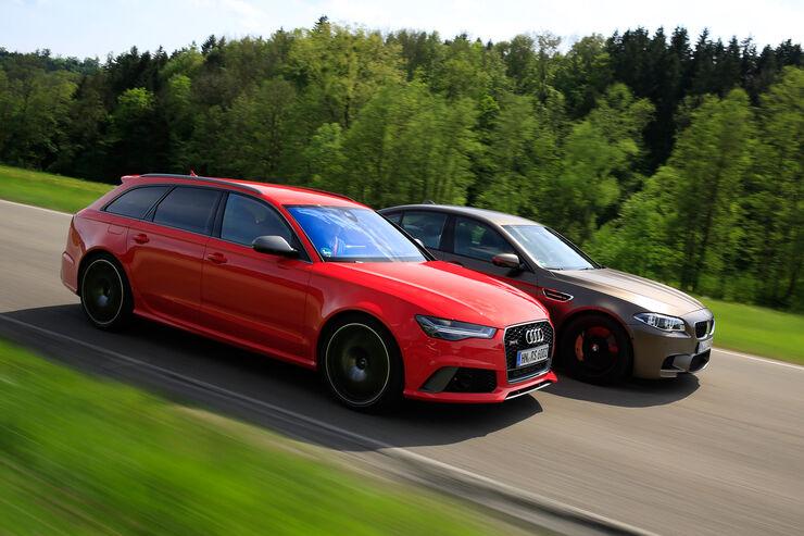 Audi Rs 6 Avant Performance Vs Bmw M5 Competition Im Test Auto