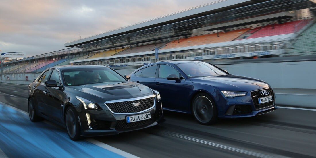Audi RS 7 Sportback Performance, Cadillac CTS-V, Frontansicht