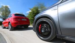 Audi RS Q3, Mercedes GLA 45 AMG, Ausfahrt