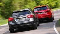Audi RS Q3, Mercedes GLA 45 AMG, Heckansicht