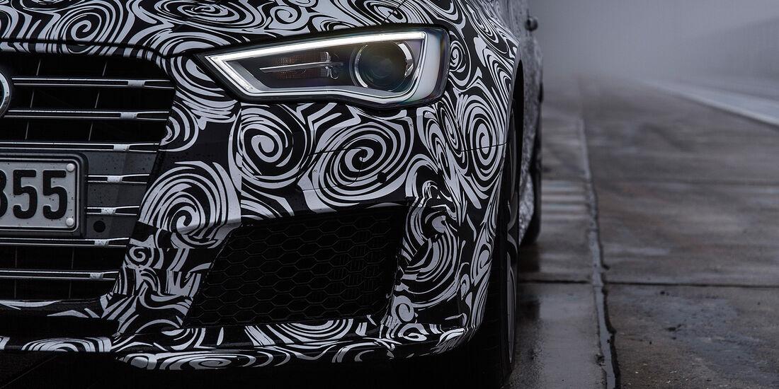 Audi RS3 2015, Erlkönig, Scheinwerfer, Kühlergrill