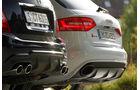 Audi RS4 Avant, Mercedes C 63 AMG T, Endrohre