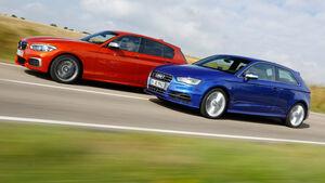 Audi S3, BMW M135i, Seitenansicht
