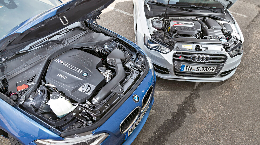 Audi S3, BMW M135i xDrive, Motor