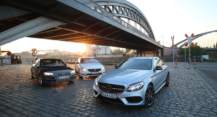 Audi S4 3.0 TFSI Quattro, Mercedes-AMG C 43 4Matic, Volvo S60 Polestar