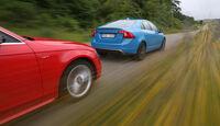 Audi S4 3.0 TFSI, Volvo S60 T6 Polestar, Fahrt
