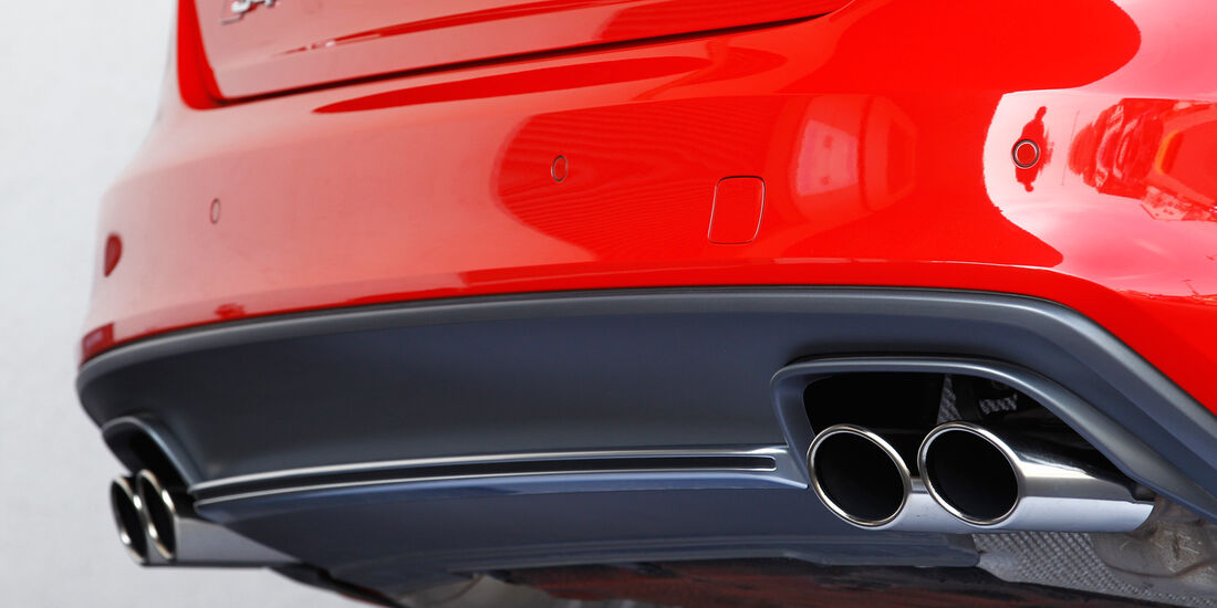 Audi S4, Auspuff, Endrohre