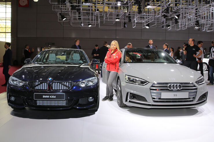Audi S5 gegen BMW 4er Grand Coupé Paris 2016