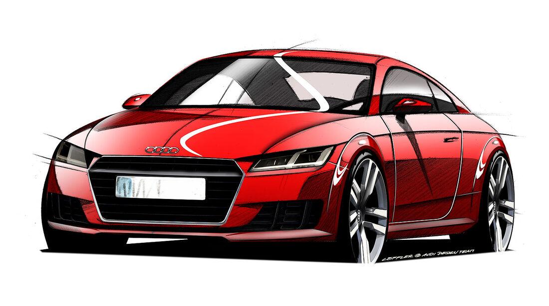 Audi TT Designskizzen Sperrfrist 20.2.2014 00.00 Uhr