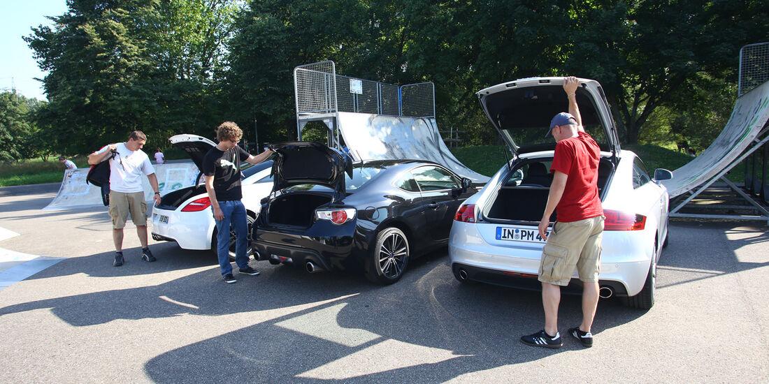 Audi TT, Peugeot RCZ, Subaru BRZ, Heckklappe