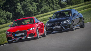 Audi TT RS Coupé, BMW M2 Coupé, Front
