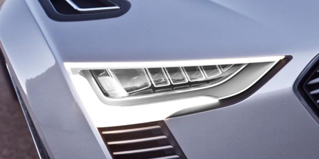 Audi e-tron Spyder, Frontscheinwerfer, Seitenlinie