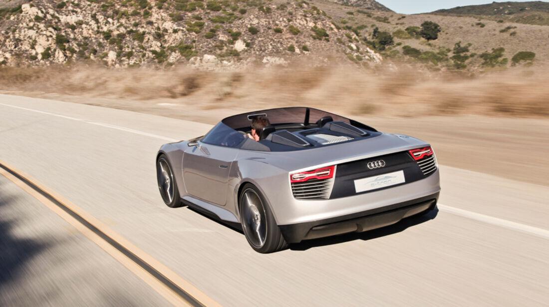 Audi e-tron Spyder, Heck
