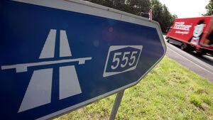 Autobahn A555, Autobahnschild