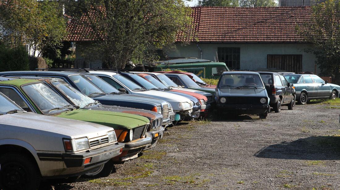Autofriedhof Rust, verschiedene Fahrzeuge