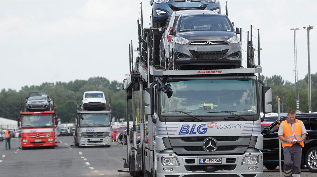 Autoterminal Bremerhaven, LKW
