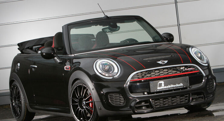 b b automobiltechnik tunt den mini jcw cabrio auf 310 ps. Black Bedroom Furniture Sets. Home Design Ideas