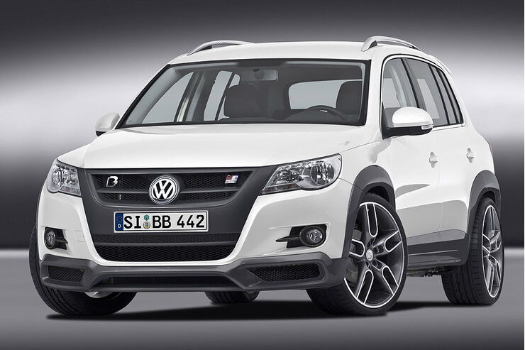 b b vw tiguan tuningprogramm bis zu 300 ps f r den vw suv auto motor und sport. Black Bedroom Furniture Sets. Home Design Ideas