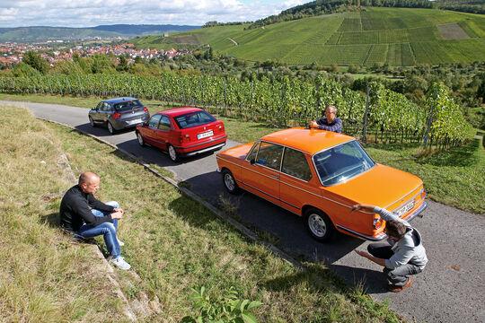 BMW 114i, BMW 316i, BMW 2002, Heckansicht