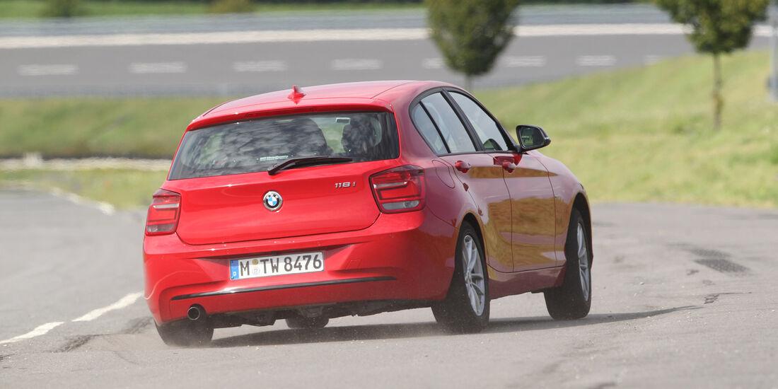 BMW 118i, Heckansicht