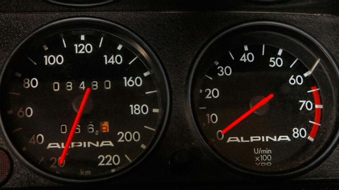 BMW 2002 tii Alpina, Rundinstrumente, Tacho