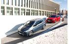 BMW 220i Active Tourer, Mercedes B 250, Seitenansicht