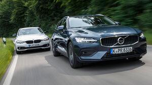 BMW 320d Touring, Volvo V60 D4, Exterieur