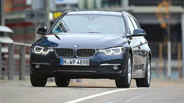 BMW 320d Touring xDrive, Frontansicht