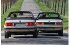 BMW 320i Baur Topcabriolet (TC2) und BMW 320 Baur topcabriolet (TC1) in Fahrt - Heckansicht