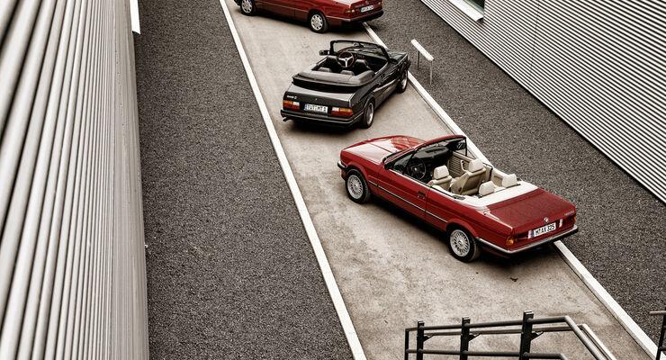 BMW 325i, Mercedes 300 CE-24, Saab 900, Druafsicht