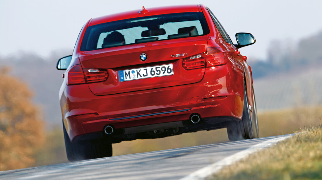 BMW 335i, Heck
