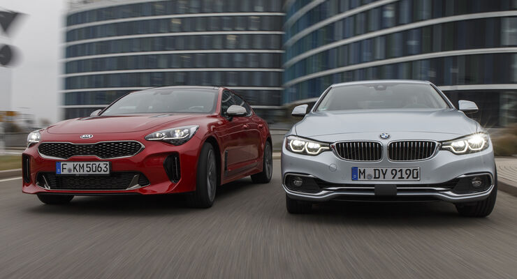 kia stinger 3 3 t gdi gegen bmw 440i gran coupe im test. Black Bedroom Furniture Sets. Home Design Ideas