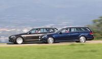 BMW 518d Touring, Mercedes E 200 CDI T, Seitenansicht