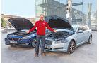 BMW 520d Touring, Jaguar XF Sportbrake 2.2D, Motorhaube, Jens Dralle