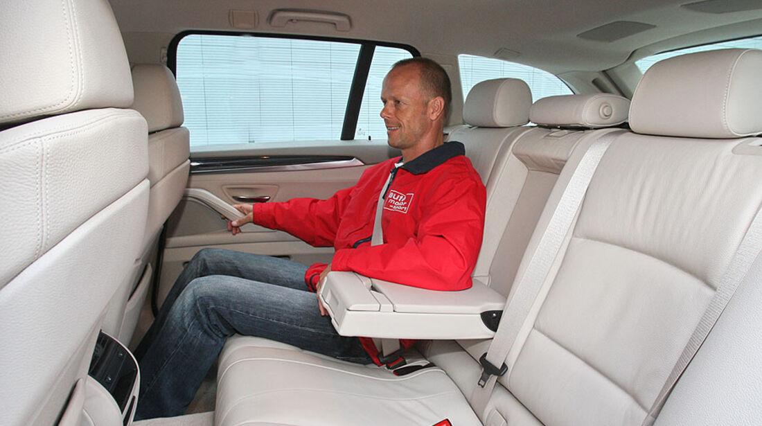 BMW 520d Touring, Rückbank