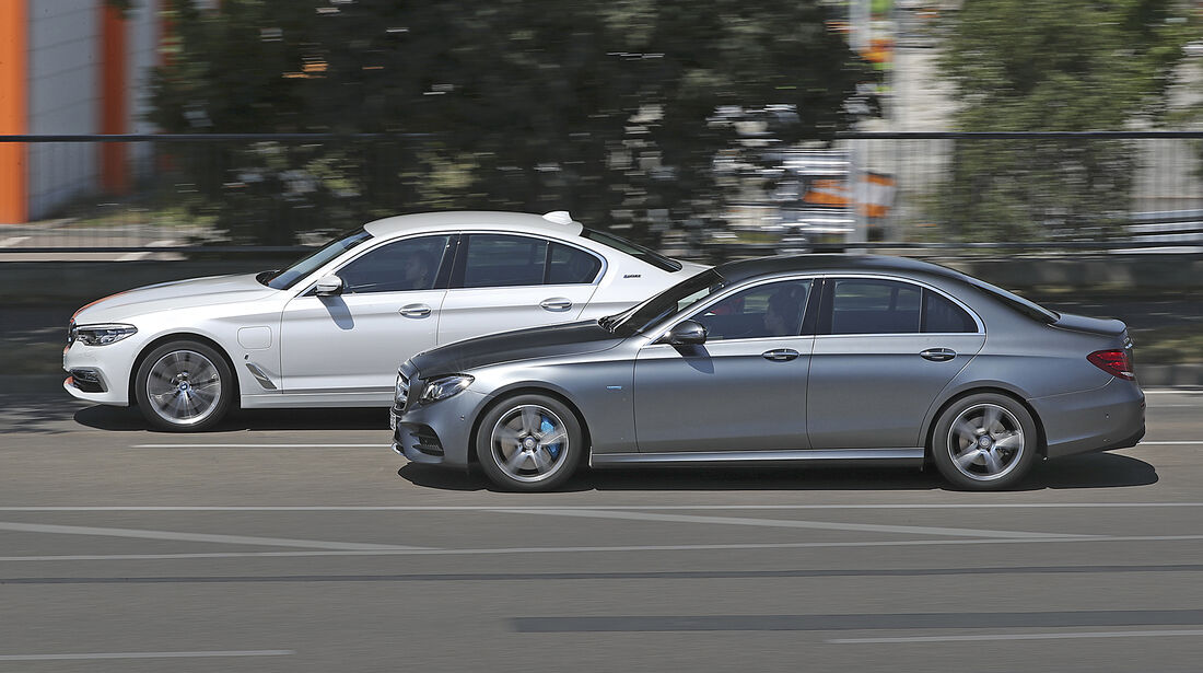 BMW 530e iPerformance Luxury Line, Mercedes E 350 e Avantgarde, Exterieur