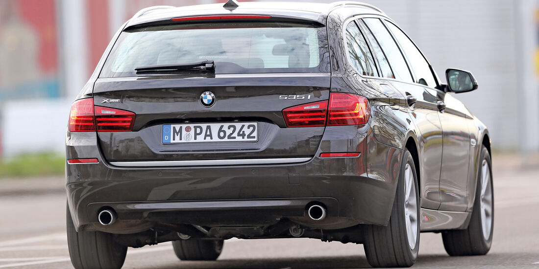BMW 535i Touring xDrive, Heckansicht