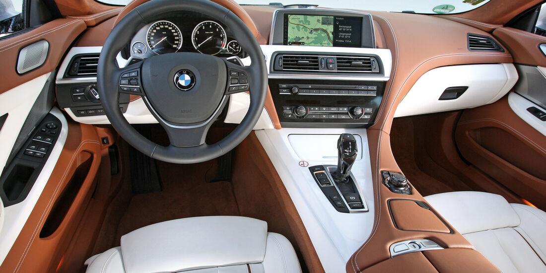 BMW 640i Gran Coupé, Cockpit, Lenkrad