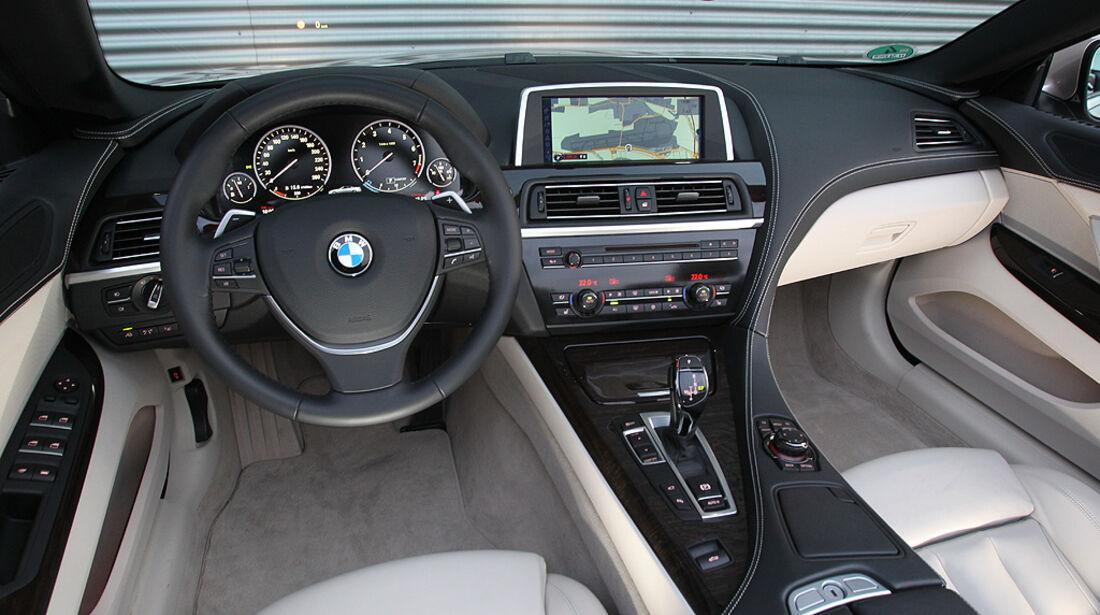 BMW 650i Cabrio, BMW 6er Cabrio, Innenraum, Cockpit