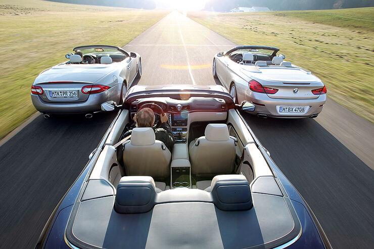BMW 650i Cabrio, Maserati Gran Cabrio, Jaguar XK Cabrio