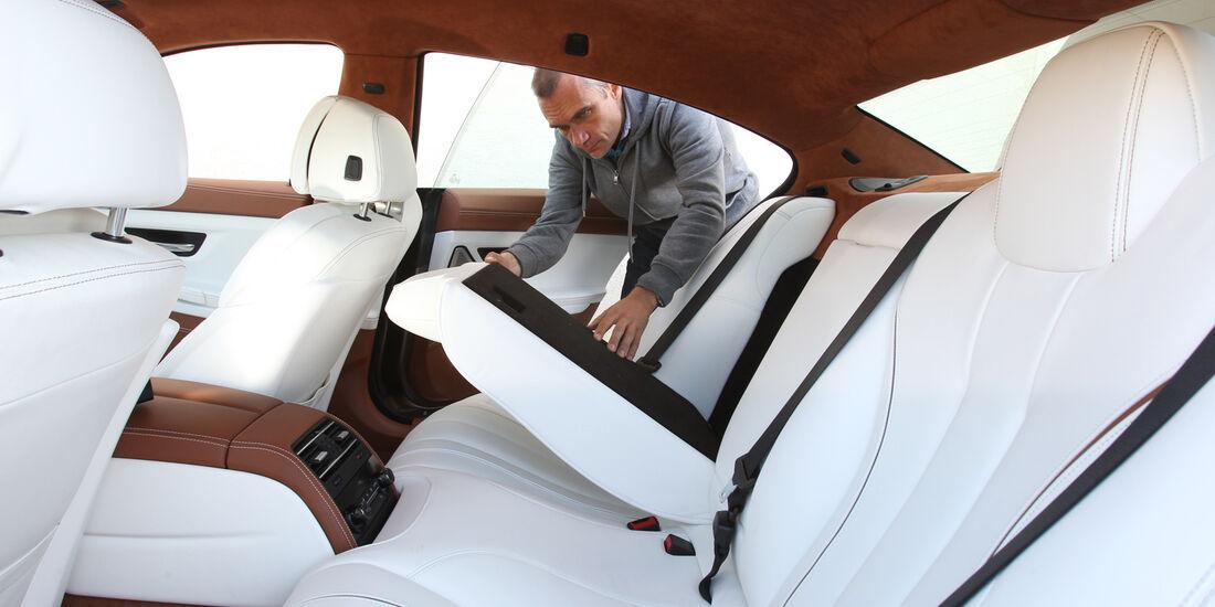BMW 6er Gran Coupé, Rücksitz, umklappen