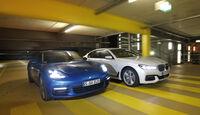 BMW 750d xDrive, Porsche Panamera 4S Diesel, Frontansicht